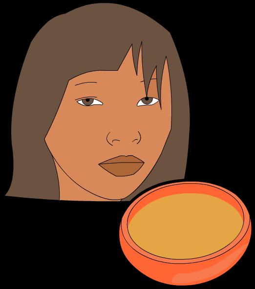 Muchacha Chibcha y la tutuma de chicha, ilustración de Luisa Fernanda